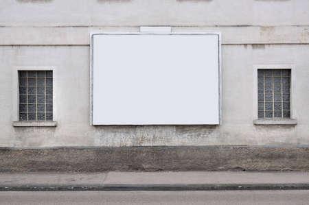 blank billboard on the wall Zdjęcie Seryjne