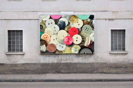 billboard with a collection of buttons Stock Photo - 5359556