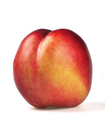 nectarine isolated on white background photo