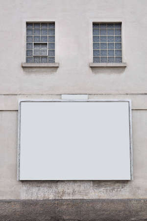 blank billboard on the wall Stock Photo