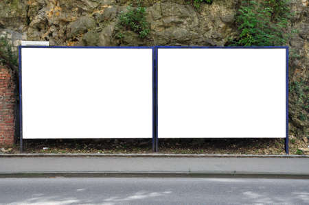 poster panel along the road