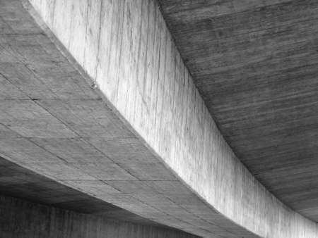 detail of a concrete bridge