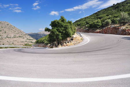 pass road and hairpin bend photo
