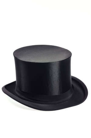 high society: old black collapsible top hat