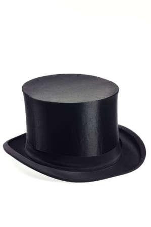 sombrero: viejo sombrero negro contra�ble