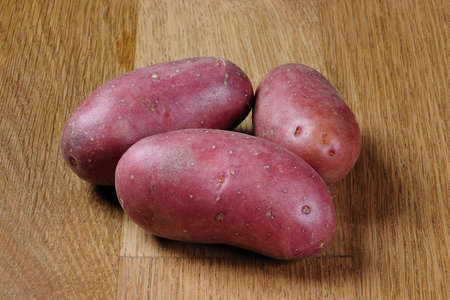 bunch of fresh and red potatoes