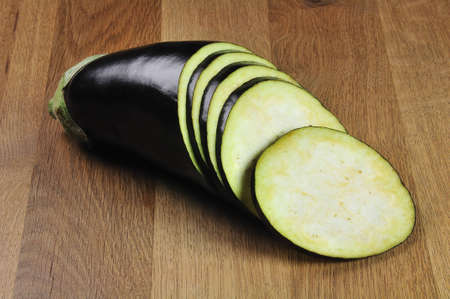 fresh aubergine ready for cooking Stock Photo