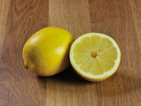 one and a half lemon Stock Photo
