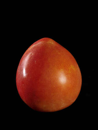 one plum on black background Stock Photo