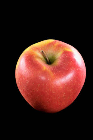 macro of an fresh red apple Stock Photo