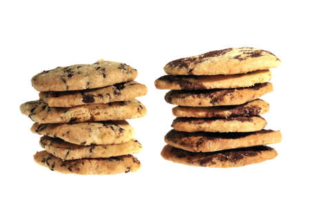 delicious homemade cookies with chocolate Stock Photo