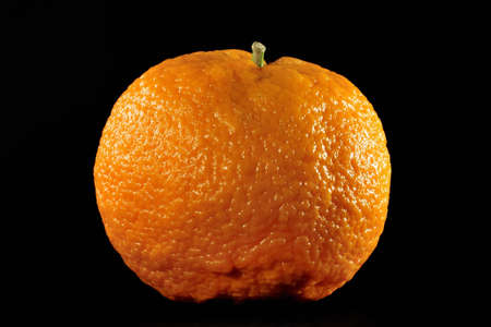 fresh orange on black background Stock Photo