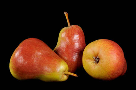 closeup from three pears