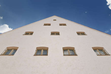 gable with windows in the city