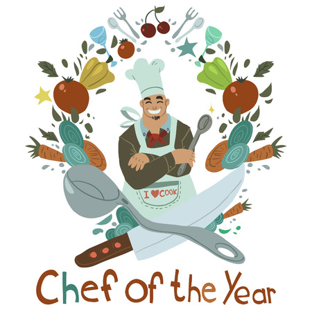 chef s hat: Chef of the year card   Illustration