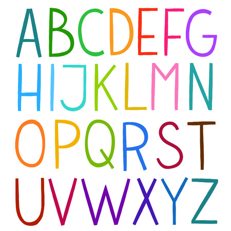 roman alphabet: The vector awesome flat modern Roman alphabet