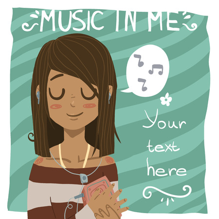 Music in me postcard