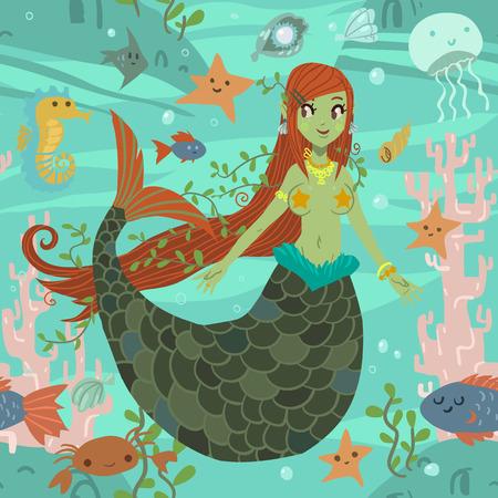 adult mermaid: Cute awesome mermaid princess pattern