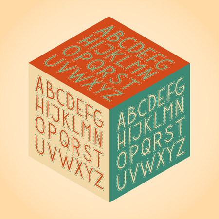 roman alphabet: The vector Roman alphabet.