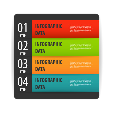 inforgaphic: Simple modern infographics options banner box.
