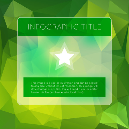 Green infographics options banner. Vector