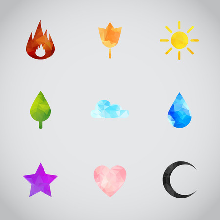 Random abstract icons set. Vector