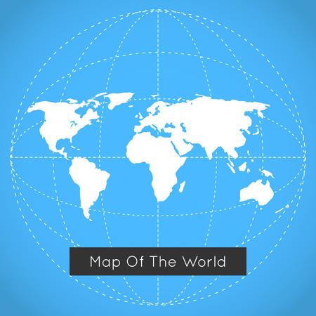 world globe map: Mono blue background illustration of Earth. Illustration
