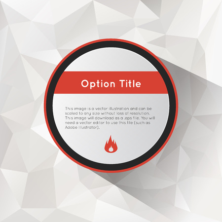 inforgraphic: Options polygonal background. Illustration