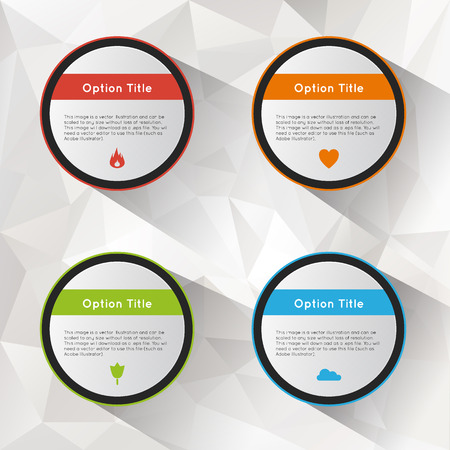 inforgraphic: Options polygonal background set. Illustration