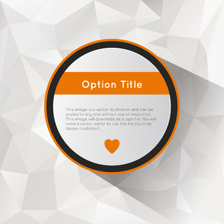 inforgraphic: Abstract inforgraphics options with polygonal background. Vector illustration for game presentation, user interface tablet, smart phone. Illustration