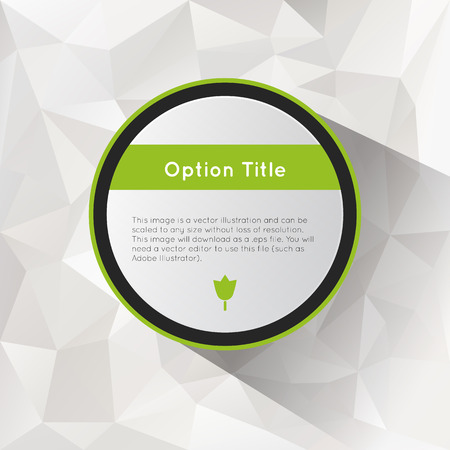 inforgraphic: Options with polygonal background.