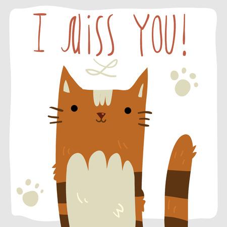 i miss you: I Miss You postcard.