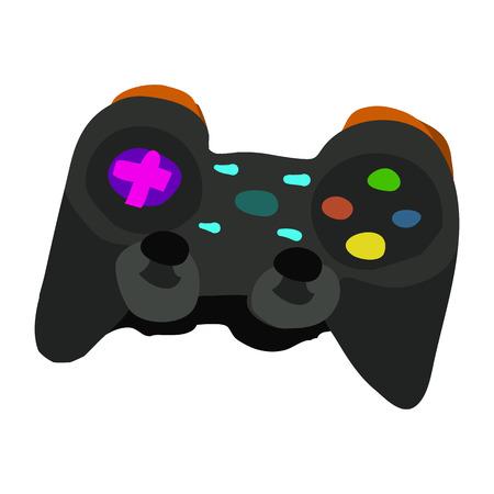 the gamepad: Vector cartoon flat Gamepad icon.