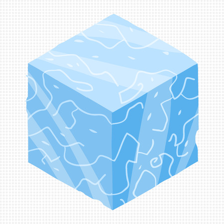 ice brick: ice cubes design elements for games