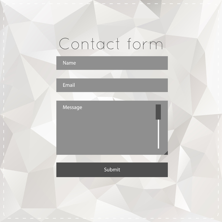 forms: template with white polygonal background.