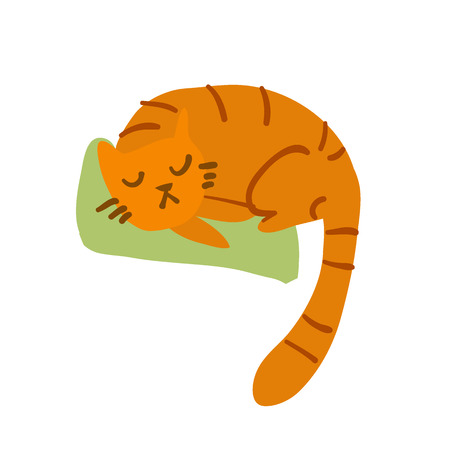 purring: The illustration for web games, tablets, wallpapers, and patterns.