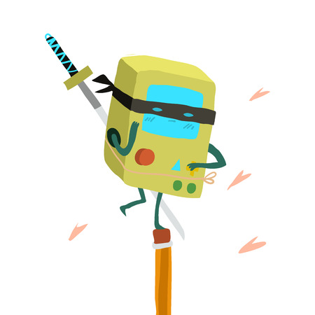 ninja: The vector illustration for ui, web games, tablets, wallpapers, and patterns. Illustration
