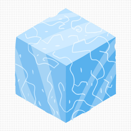 ice brick: The vector illustration for ui, web games, tablets, wallpapers, and patterns. Illustration