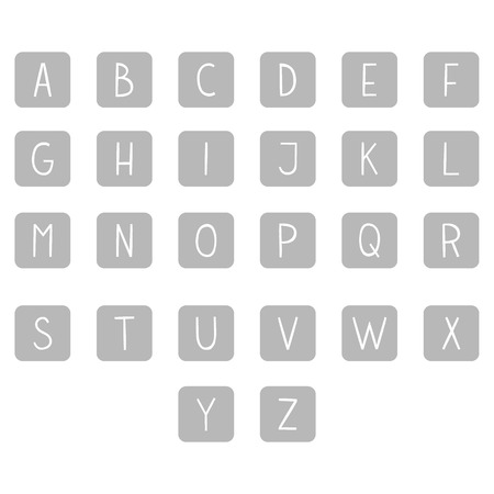 roman alphabet: The vector Roman alphabet. For ui, web games, tablets, wallpapers, and patterns.