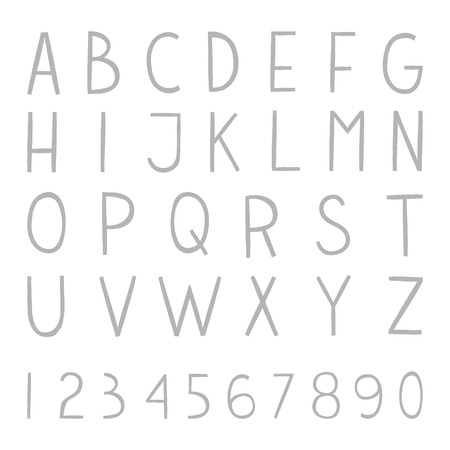 roman alphabet: The vector Roman alphabet for ui, web games, tablets, wallpapers, and patterns.