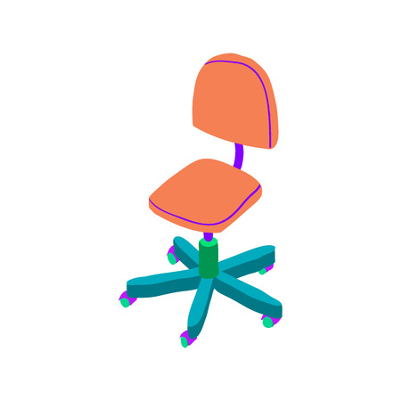 Vector cartoon simple chair. For ui, web games, tablets, wallpapers, and patterns.