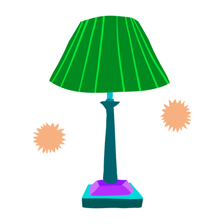 desk lamp: The vector illustration for ui, web games, tablets, wallpapers, and patterns. Illustration
