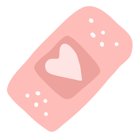 wound care: The vector illustration for ui, web games, tablets, wallpapers, and patterns. Pink heart.