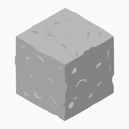 cobblestone: Vector stone cubes design elements for games.