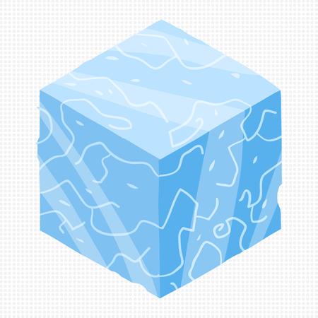 Vector ice cubes design elements for games. Ilustração