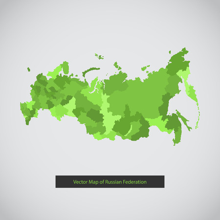 Vector illustration of flat Russian federation.