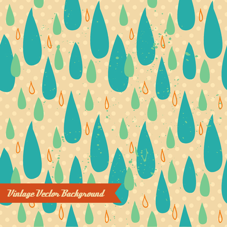 The vector hand draw background. Best for wedding cards, bedroom, bags. Rain water drop.
