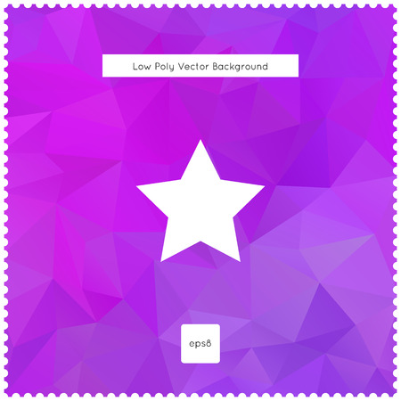 Abstract vector violet polygonal background. Imagens