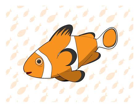peces payaso: Vector pez payaso