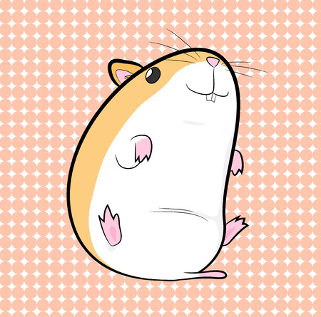 Hamster, a hand drawn vector illustration of a cute hamster, isolated on a simple background editable. Vectores